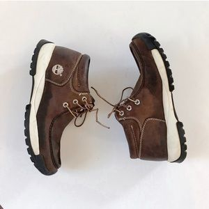 TIMBERLAND Leather Chukka Sneaker Boots Brown 9M